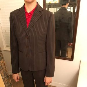 #1 Brown striped suits Ann Taylor  Jacket 0/2